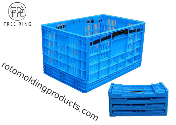 PP Utility Distribution Collapsible Plastic Folding Crate For Supermarket / Home Storage