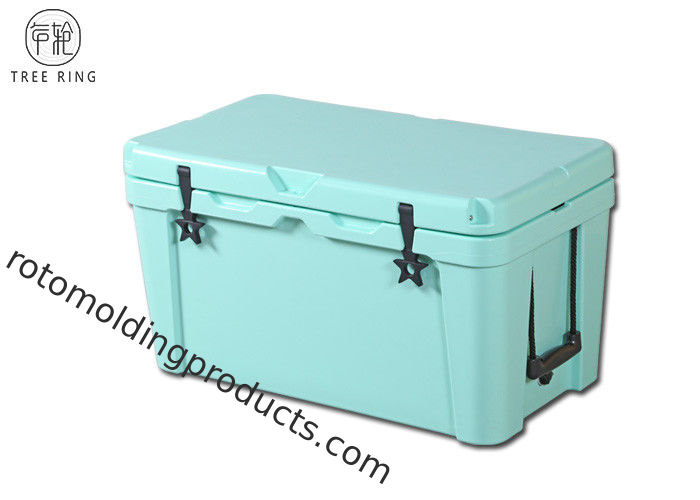 65L Outdoor Roto Molded Cooler Box ,  Commercial Insulation Large Ice Cooler Chest