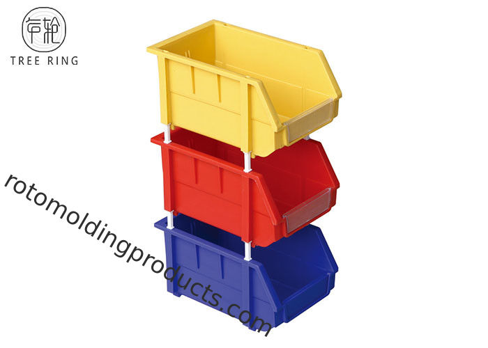 Stackable Colored Tooling Plastic Tool Storage Bins 500 * W 380 * H 250 Mm Recycled