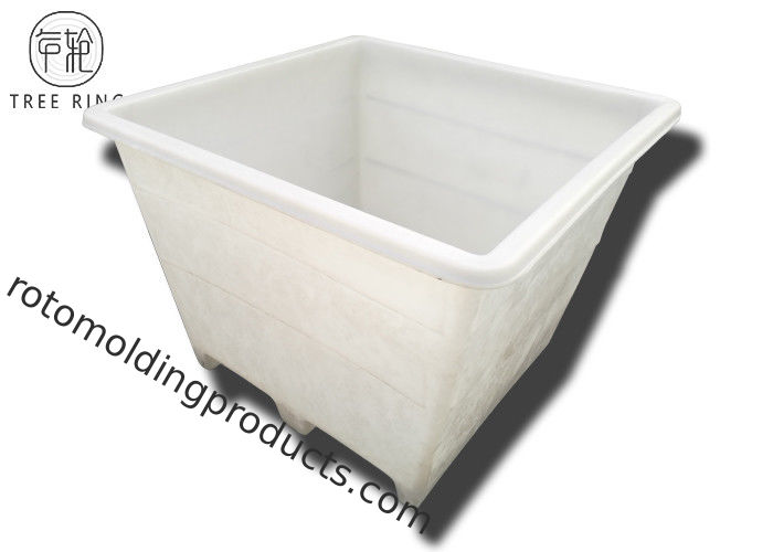 Single Wall Poly Combo Bins With 2 Ways Skid Entry Rotary Plastic Moulding