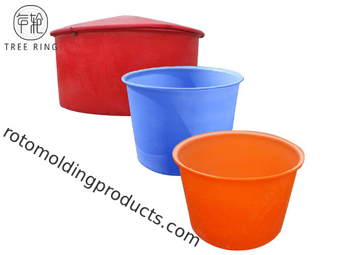 220 Gallon Stock Large Round Cattle Water Trough  For Horses Rotational Plastic Circular