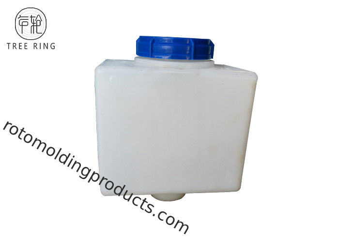 20L Small Chemical Dosing Tank Rectangle , Cone Bottom Rinse Chemical Feed Tank