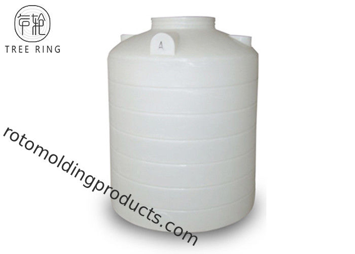 Vertical Liquids Storage Plastic Roto Mold Tanks With Outlet Drain PT 2000L