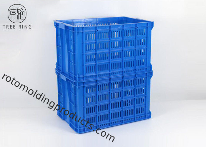 Large Heavy Duty Plastic Crates For Fruits And Vegetables 705 * 480 * 405 Mm C700
