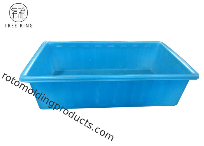 Open Top Blue Rectangular Large Plastic Pond Tubs For Hydroponic Growing100 Gallon