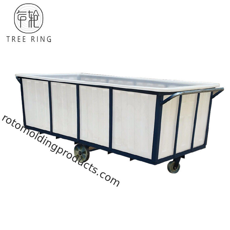 Roto Molding Heavy Duty 2500L Poly Truck Box For Wet Fabric Industrial