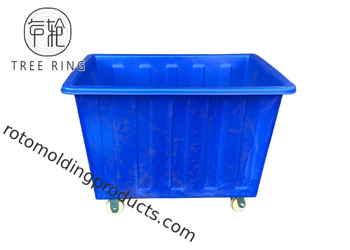 Commercial Textile Mobile Tapered Plastic Box Truck Cart For Garment Industrial