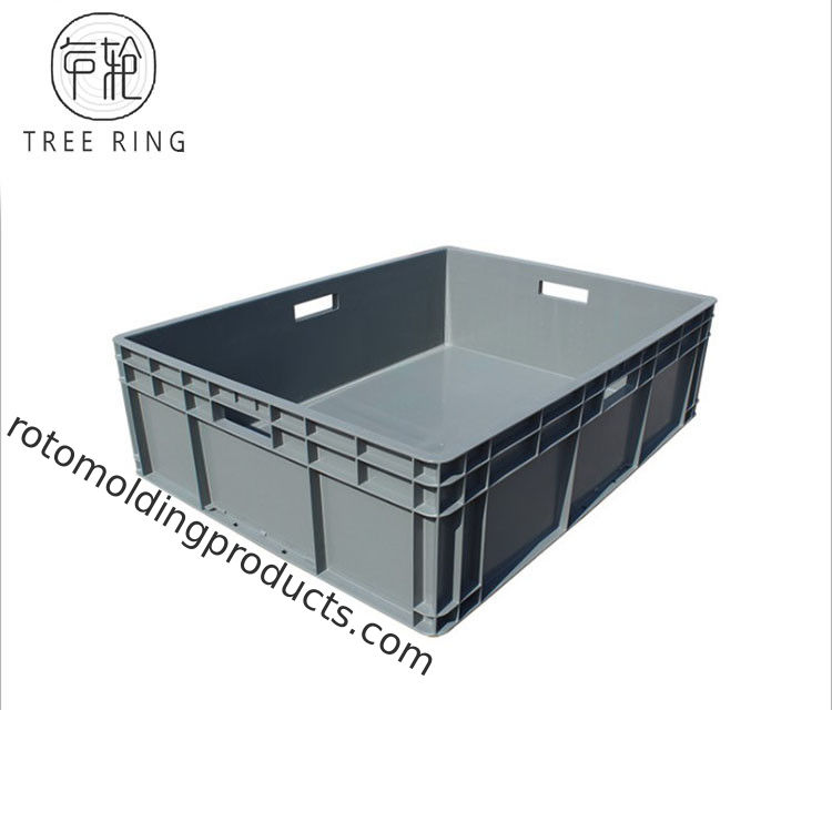800*600*230 Mm Euro Plastic Storage Boxes Tray For Industrial Storage