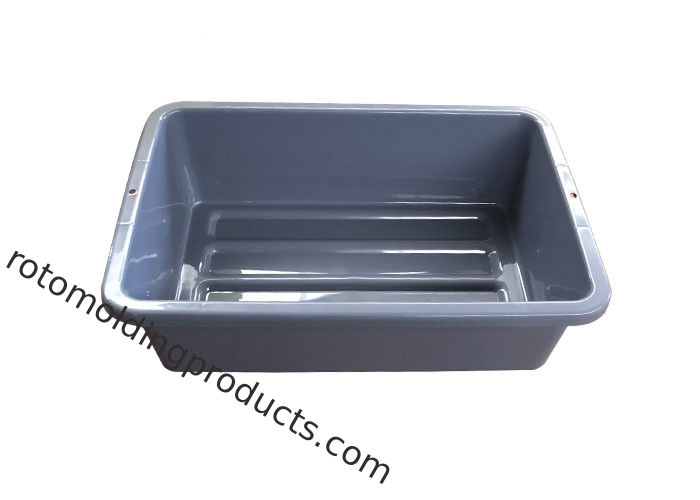 Grey Non Collapsible Plastic Luggage Airport Search Tote Tray For Airport Or Restaurant