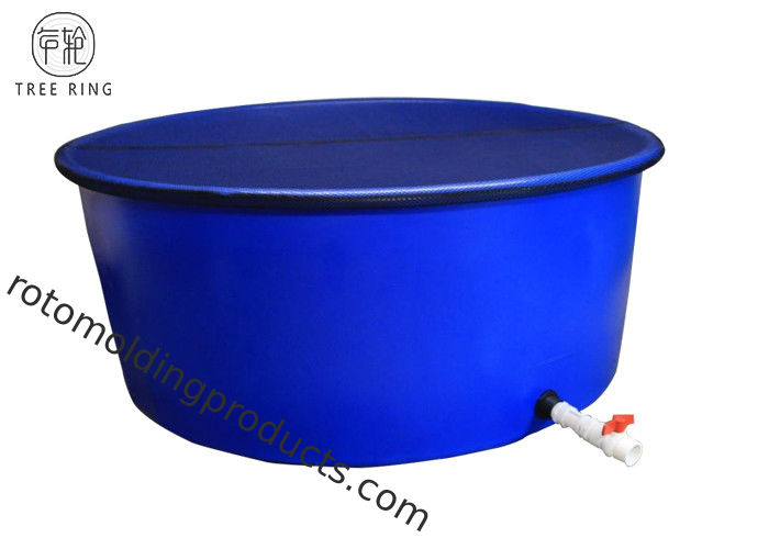 1000 Gallon Vertical Flat PE Blue Open Top Tank Fish Ponds For Gowing Chinese Catfish