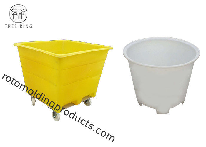 800L Bulk Containment Offal Large Plastic Storage Bins With Fork Lift Holes