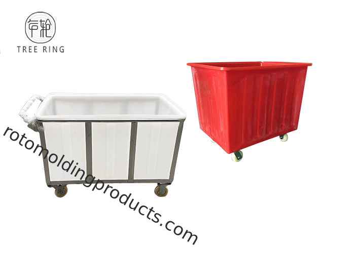 Multi Purpose Heavy Duty Poly Box Truck Utility Carts On Wheeled Casters